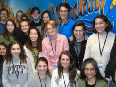 Photograph of Pitt students with Prof. Puri and Superintendent Capozza